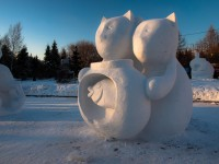 Snow sculpture in Novosibirsk