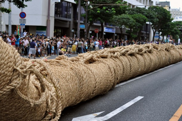The rope used at the Okinawa tug-of-war